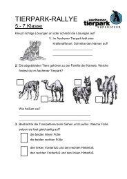 TIERPARK-RALLYE - Aachener Tierpark