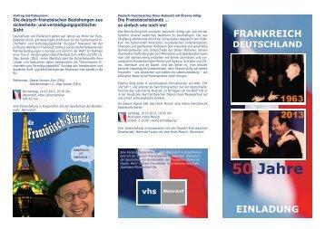 50 Jahre Frankreich - Deutschland - Volkshochschule Warendorf