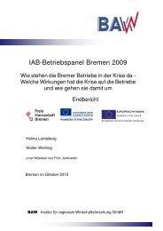 IAB-Betriebspanel Bremen 2009 - Der Senator für Wirtschaft, Arbeit ...