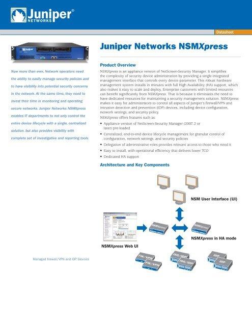 Juniper Networks NS-IDP 200 NetScreen Intrusion Detection Security Firewall