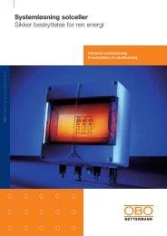 Systemløsning solceller - OBO Bettermann