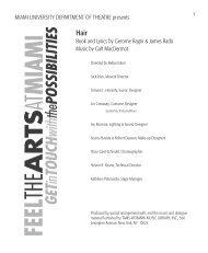 Program Guide - Miami University School of Fine Arts
