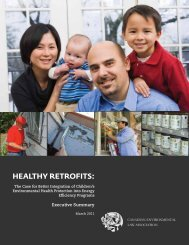 HEALTHY RETROFITS: - Canadian Environmental Law Association