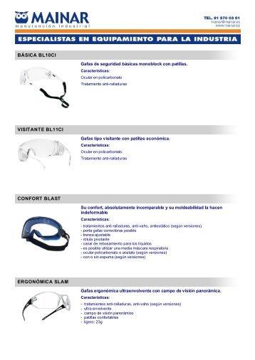 gafas de protección bollé