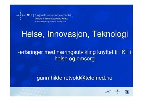 Helse, Innovasjon, Teknologi