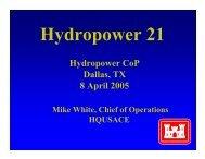 Hydropower Workshop Planning Meeting, Dallas, TX - 7-8 April 2005