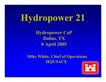 Hydropower Workshop Planning Meeting, Dallas, TX - 7-8 April 2005