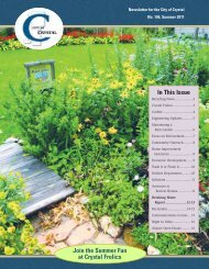 Join the Summer Fun at Crystal Frolics In This Issue - City of Crystal