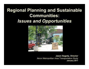 Regional Planning and Sustainable Communities: Issues and ...
