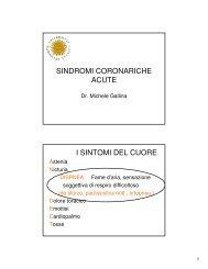 SINDROMI CORONARICHE ACUTE I SINTOMI ... - Docente.unicas.it