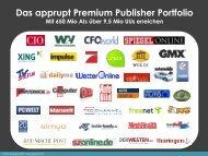 Das apprupt Premium Publisher Portfolio Mit 650 Mio AIs über 9,5 ...