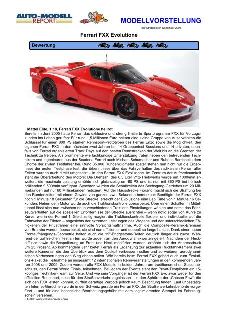 2007 Ferrari FXX Evolutione hellrot