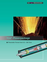 TOX Powerpackage - Pneumatic Forces from 0.2 – 200 Tons