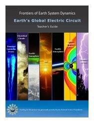 Frontiers of Earth System Dynamics Earth's Global Electric Circuit