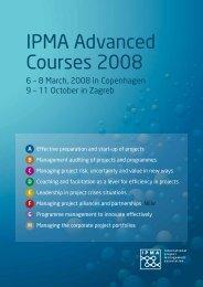 IPMA Advanced Courses 2008