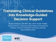 Translating Clinical Guidelines into Knowledge ... - World of Health IT