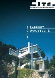 Rapport d'activité 2009 - Cité de l'architecture & du patrimoine