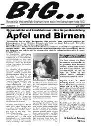 Ehrenamtliche und Berufsbetreuer - GeBeN - Gesetzliche ...