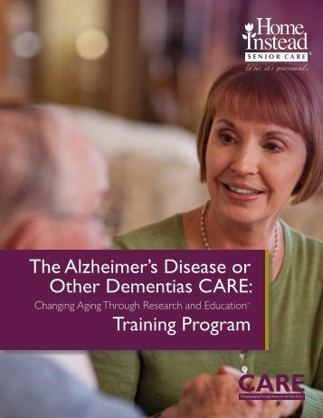 Alzheimer's Disease or Other Dementias CARE Training Program ...