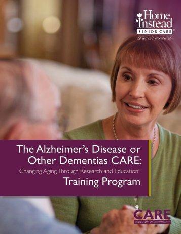 Alzheimer's Disease or Other Dementias CARE Training Program ...