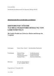 Semesterarbeit der IKAÖ - Naturpark Gantrisch