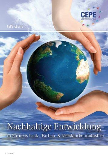 "CEPE-Charta ""Nachhaltige Entwicklung in Europas Lack-, Farben ..."