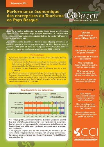 Performance économique des entreprises du Tourisme en ... - Aquieco