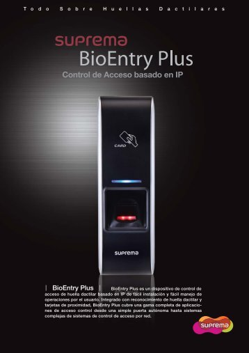 BioEntry Plus - Control de accesos biométrico de ... - CCTV Center