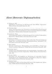 (Erst-)Betreute Diplomarbeiten - Hochschule Zittau/Görlitz