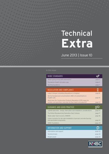 Download Technical Extra 10 pdf - NHBC Home