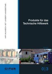 Produkte für das Technische Hilfswerk - GIFAS W.J. Gröninger ...