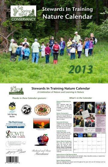 Nature Calendar - Salt Spring Island Conservancy