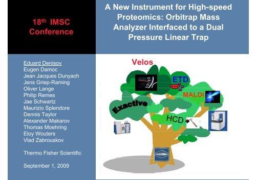 18th IMSC Conference A New Instrument for ... - Thermo Scientific