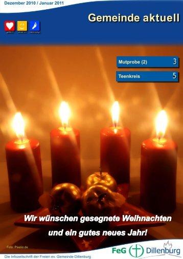 Dezember 2010 und Januar 2011 - FeG Dillenburg