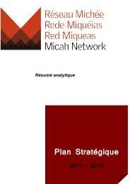 2011-2014-Plan Stratégique - Micah Network