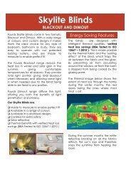 Energy Saving Skylight Blinds - Merit Blinds