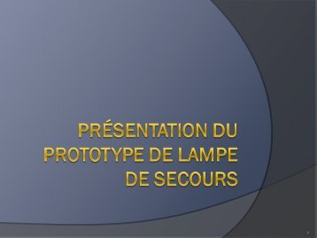 Lampe de secours - Design Workshops