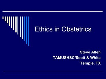Ethics in Obstetrics - Healthcare Professionals