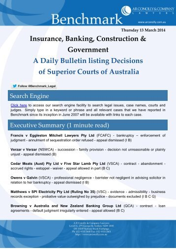 benchmark_13-03-2014_insurance_banking_construction_government