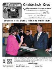 ELECTION - Fairhaven Neighborhood News