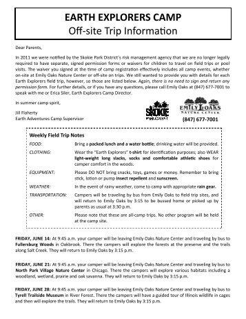 Eas 4801kf 8801kf Field Trip Information Schedule Subject To