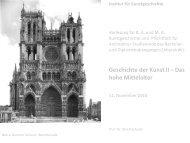 Die gotische Kathedrale Teil I - KIT - IKB - Fachgebiet Kunstgeschichte