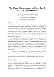 Word Sense Disambiguation and Sense-Based NV Event Frame ...