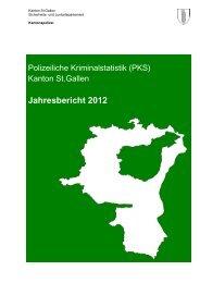 PKS-Polizeiliche Kriminalstatistik (Kanton) - Kantonspolizei St.Gallen