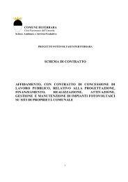 schema di contratto affidamento, con contratto di concessione di ...