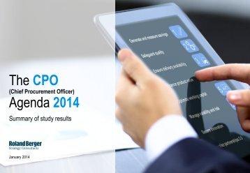 The CPO Agenda 2014 (PDF, 1899 KB) - Roland Berger