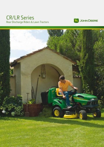 CR / LR Series Rear Discharge Riders & Lawn Tractors - John Deere