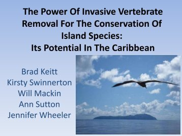 The Power Of Invasive Vertebrate Removal For The Conservation Of ...