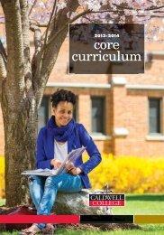 12581-5 Core Curriculum - Caldwell College