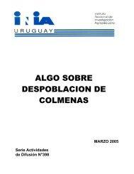 ALGO SOBRE DESPOBLACION DE COLMENAS - Instituto de ...